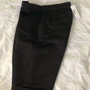 J Crew black satin pants